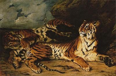 Delacroix - 母虎と戯れる子虎.jpg