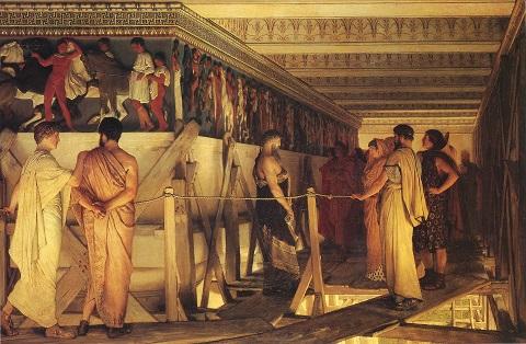 アルマ=タデマ 8:フェイディアスとパルテノン神殿のフリーズ(1868).jpg