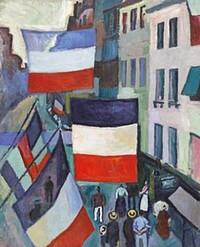 デュフィ「旗で飾られた通り」.jpg