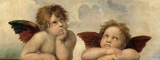 ラファエロ「システィーナの聖母」の天使.jpg