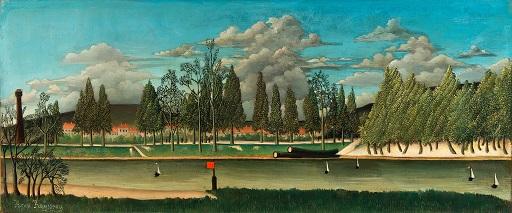 ルソー「木の幹がある運河と風景」.jpg
