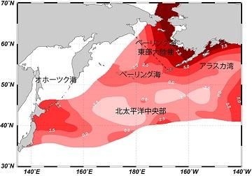 北太平洋の窒素同位体比地図.jpg