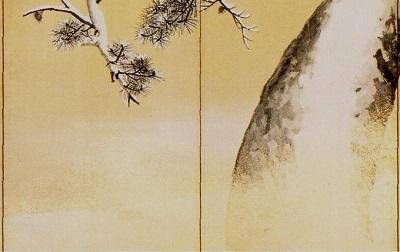 雪松図屏風(右隻・第3・4扇)部分.jpg
