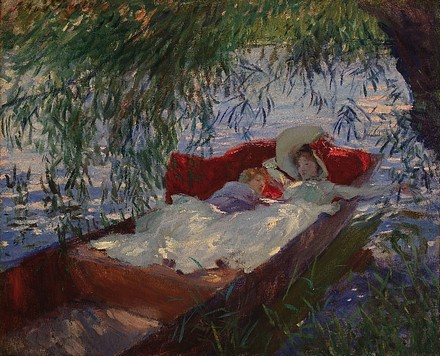 Lady and Child Asleep in a Punt under the Willows.jpg