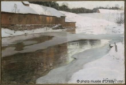 Thaulow - Une fabrique sous la neige en Norvege.jpg